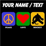 Custom Peace Love Hockey