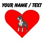 Custom Bull Terrier Heart