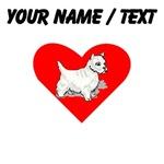 Custom Westie Heart