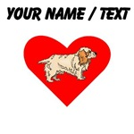 Custom Clumber Spaniel Heart