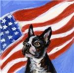 Fourth of July Dog Art