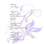 Elegant Lilac Dream Poem
