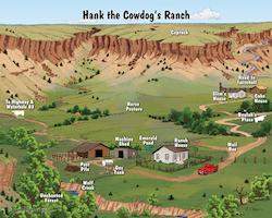Map of Hank the Cowdog's Ranch