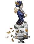 Vintage Bird Cage Lady