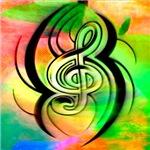 treble clef, more colors