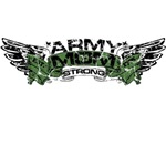 Army Mom Strong Wings
