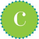 c monogram, lime