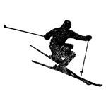 Distressed Skier Silhouette