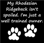 Well Trained Rhodesian Ridgeback Owner