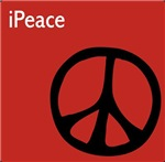 Red iPeace Sign