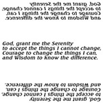 Unique Serenity Prayer