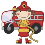 Female Firefighter T-shirts and Gifts