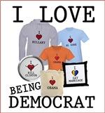 I Love Democrats T-Shirts and Gifts