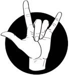 Fingerlaphabet ILY
