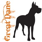 Grunge Great Dane Silhouette