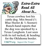 TEXAS Cowboy Lost His Dog - Read All About It...