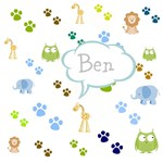 Personalize it! Zoo Animals Blue