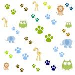 Zoo Animals - Blue