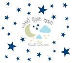 Moon Stars -Sweet Dreams- Navy blue