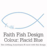 Placid Blue Faith Fish Design