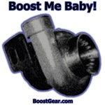 Boost Me Baby! Blue Outline