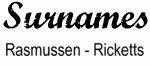Vintage Surname - Rasmussen - Ricketts