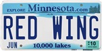 Red Wing License Plate Shop