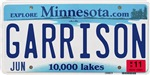 Garrison License Plate Shop