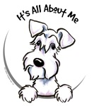 It's All About Me :: White Schnauzer