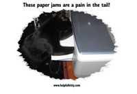 Paper Jam Helpful Kitty