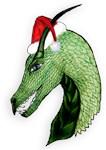 Green Christmas dragon