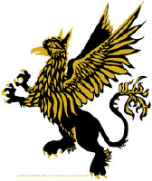 Gryphon in Black and Gold