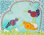 Button Birds Birthday