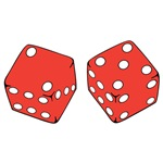 Red and White Game Dice