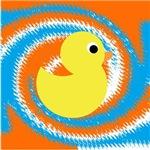 Rubber Duck Blue Orange