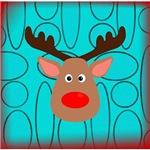 Teal Christmas Reindeer