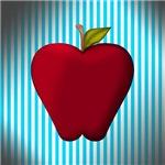 Apple on Teal