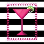 Pink Cocktail Black White