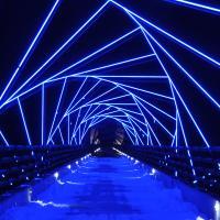 High Trestle Trail Bridge at Night