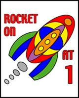 1st BIRTHDAY T-SHIRTS ROCKET