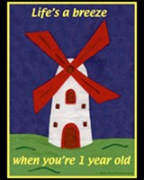 1st BIRTHDAY T-SHIRTS WINDMILL