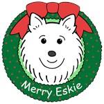 American Eskimo Dog Christmas Ornaments