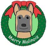Belgian Malinois Christmas Ornaments