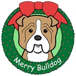 Bulldog Christmas Ornaments