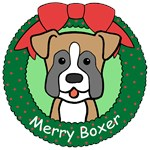 Boxer Christmas Ornaments