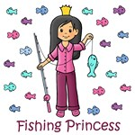Fishing Princess (Black Hair)