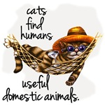 Cats find humans