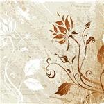 Grunge Brown Red_Floral