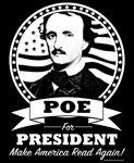 Poe For President Dark Clothing with White Logo