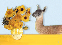 VAN GOGH'S SUNFLOWERS<With Llama #5)